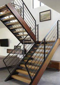 tampilan tangga berlawanan arah