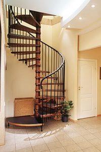 tampilan tangga spiral melingkar