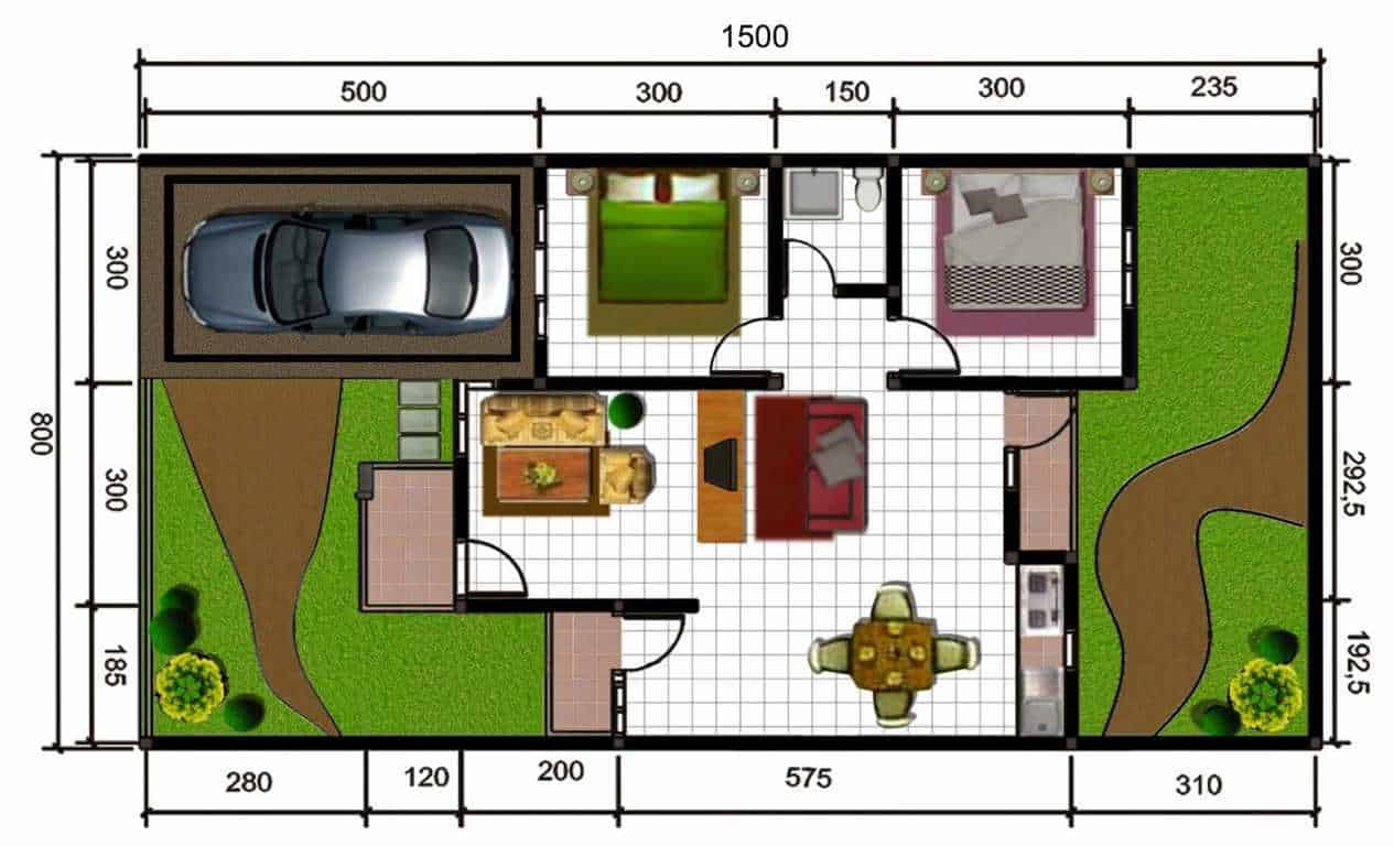 Desain Rumah Tipe 45 RumahLiacom
