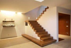 tangga minimalis tanpa pegangan
