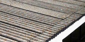 Tampilan atap asbes