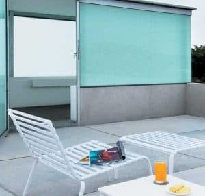 Tampilan atap beton cor yang dibuat ruang bersantai