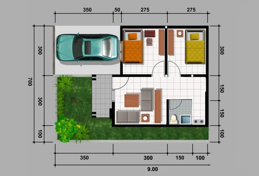 Desain Rumah Type 36 Rumahlia Gambar