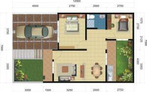 desain rumah type 60