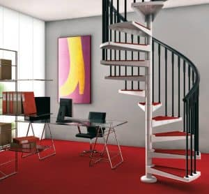 tangga rumah minimalis spiral