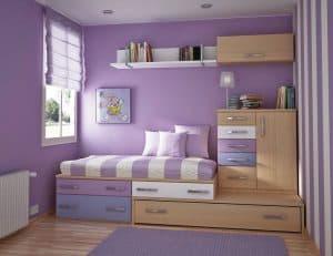 cat dinding kamar tidur dengan warna soft