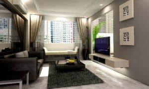 Desain Ruang Tamu Tipe 45