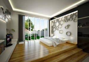 Kamar Tidur Utama yang Unik