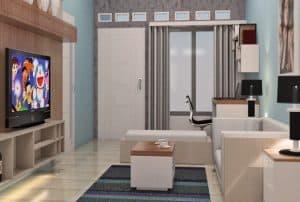 Desain Ruang Tamu Minimalis Type 36