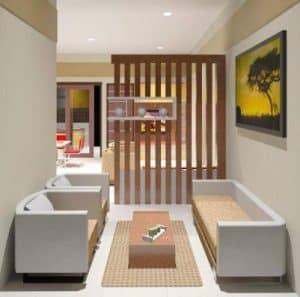 Desain Ruang Tamu Ukuran 3