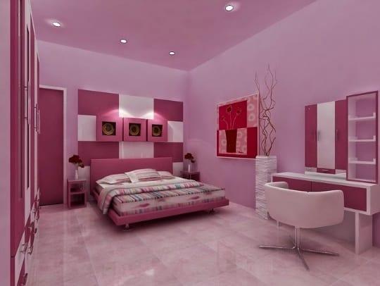 menata Kamar tidur warna pink RumahLia com