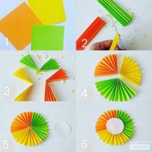 Mempercantik Hiasan Dinding Dengan Menggunakan Kertas Origami Bentuk Kipas Adalah Salah Satu Bagian Dari Desain R Tidur Yang Unik Dan Menarik Bagi
