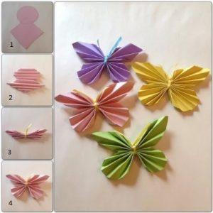 Hiasan Dinding Dengan Kertas Origami Bentuk Kupu Sangat Co Digunakan Untuk Menghiasi Dan Mempercantik Ruangan Didalam Rumah