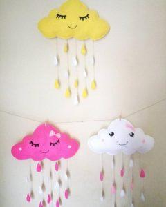 awan hujan kain flanel