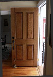tekstur pintu kayu