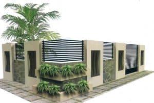 pagar tembok rumah minimalis