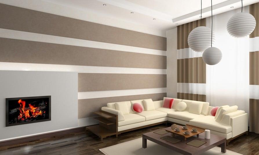 motif garis dinding