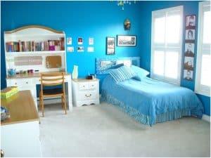 Kamar kecil, berwarna dan rapi