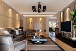 ruang Tamu yang Menyatu dengan Ruang Keluarga