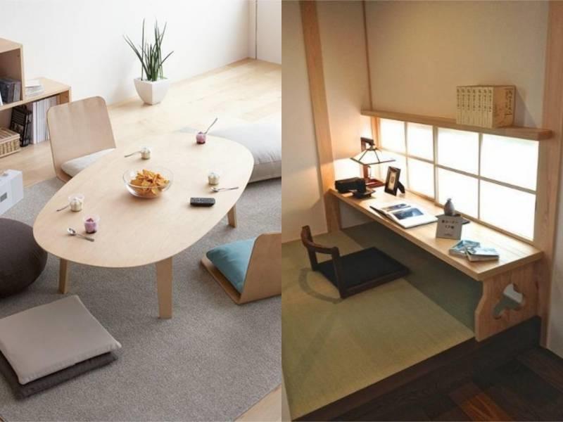 Pakai Meja Kayu Ala Jepang